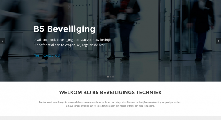 Nieuwe website B5 Beveiligingstechniek