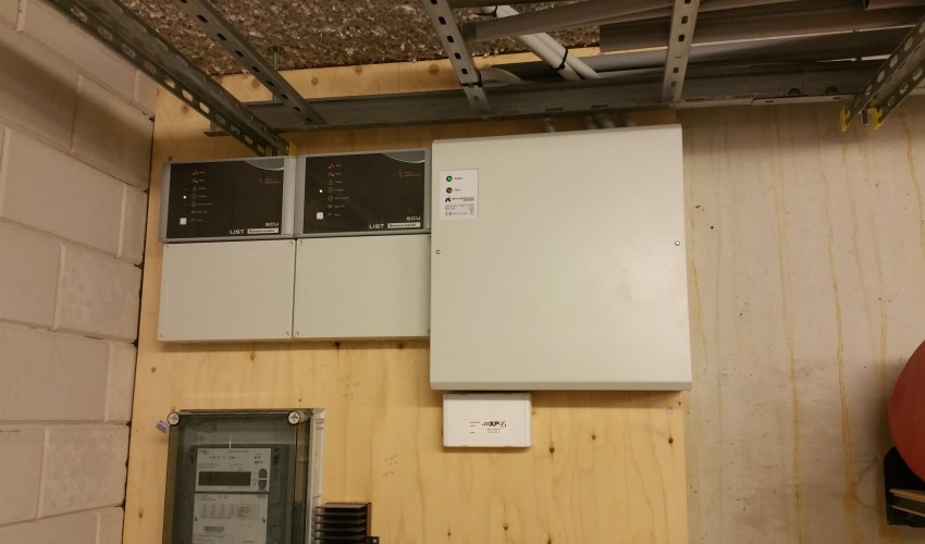LIST sensor bekabeling school Vleuterweide